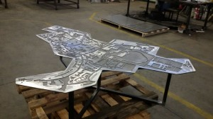 Tavolo ricavato da pianta topografica