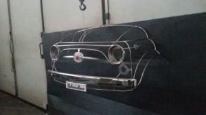 Scultura Fiat 500 inox