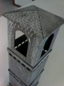 Ricostruzione plastica di un campanile